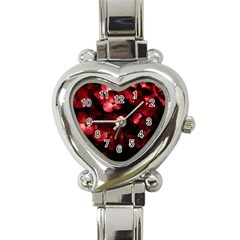 Red Flowers Bouquet In Black Background Photography Heart Italian Charm Watch  by dflcprints