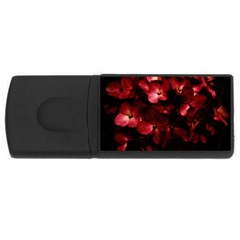 Red Flowers Bouquet In Black Background Photography 4gb Usb Flash Drive (rectangle) by dflcprints