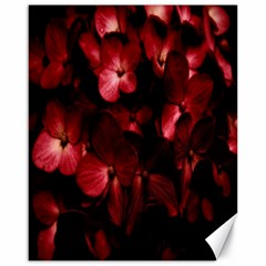 Red Flowers Bouquet In Black Background Photography Canvas 16  X 20  (unframed) by dflcprints