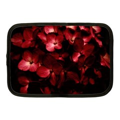 Red Flowers Bouquet In Black Background Photography Netbook Sleeve (medium) by dflcprints