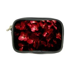 Red Flowers Bouquet In Black Background Photography Coin Purse by dflcprints