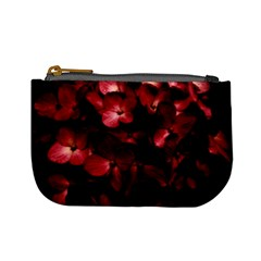 Red Flowers Bouquet In Black Background Photography Coin Change Purse by dflcprints