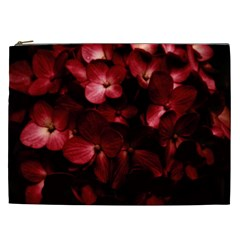 Red Flowers Bouquet In Black Background Photography Cosmetic Bag (xxl) by dflcprints