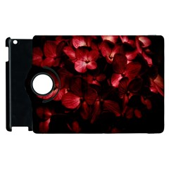 Red Flowers Bouquet In Black Background Photography Apple Ipad 3/4 Flip 360 Case by dflcprints