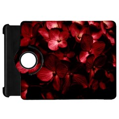 Red Flowers Bouquet In Black Background Photography Kindle Fire Hd Flip 360 Case by dflcprints