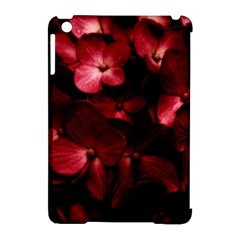 Red Flowers Bouquet In Black Background Photography Apple Ipad Mini Hardshell Case (compatible With Smart Cover)