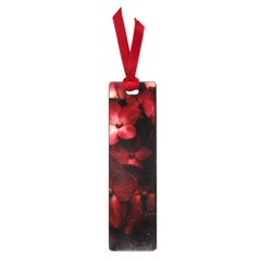 Red Flowers Bouquet In Black Background Photography Small Bookmark by dflcprints