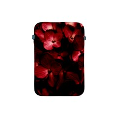 Red Flowers Bouquet In Black Background Photography Apple Ipad Mini Protective Sleeve by dflcprints