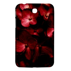 Red Flowers Bouquet In Black Background Photography Samsung Galaxy Tab 3 (7 ) P3200 Hardshell Case  by dflcprints
