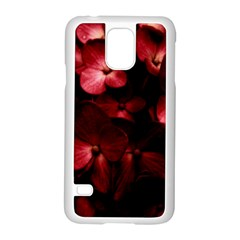 Red Flowers Bouquet In Black Background Photography Samsung Galaxy S5 Case (white) by dflcprints
