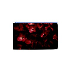 Red Flowers Bouquet In Black Background Photography Cosmetic Bag (xs) by dflcprints