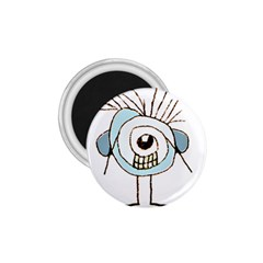 Cute Weird Caricature Illustration 1 75  Button Magnet by dflcprints