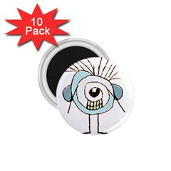 Cute Weird Caricature Illustration 1 75  Button Magnet (10 Pack) by dflcprints