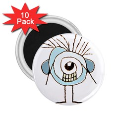 Cute Weird Caricature Illustration 2 25  Button Magnet (10 Pack) by dflcprints