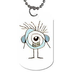 Cute Weird Caricature Illustration Dog Tag (one Sided) by dflcprints
