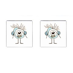 Cute Weird Caricature Illustration Cufflinks (square) by dflcprints