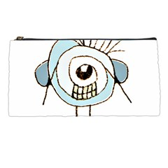 Cute Weird Caricature Illustration Pencil Case by dflcprints