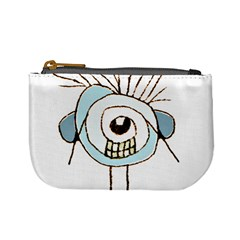 Cute Weird Caricature Illustration Coin Change Purse by dflcprints