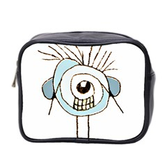 Cute Weird Caricature Illustration Mini Travel Toiletry Bag (two Sides) by dflcprints