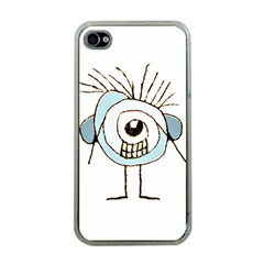 Cute Weird Caricature Illustration Apple Iphone 4 Case (clear) by dflcprints