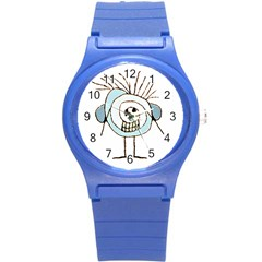 Cute Weird Caricature Illustration Plastic Sport Watch (small) by dflcprints