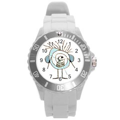 Cute Weird Caricature Illustration Plastic Sport Watch (large) by dflcprints