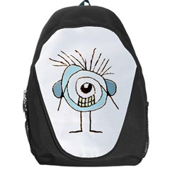 Cute Weird Caricature Illustration Backpack Bag by dflcprints