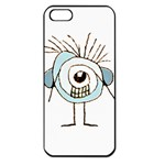 Cute Weird Caricature Illustration Apple iPhone 5 Seamless Case (Black) Front