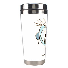 Cute Weird Caricature Illustration Stainless Steel Travel Tumbler by dflcprints