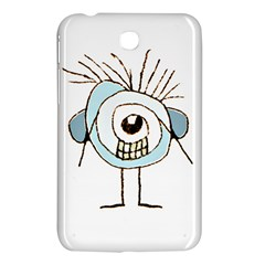 Cute Weird Caricature Illustration Samsung Galaxy Tab 3 (7 ) P3200 Hardshell Case  by dflcprints