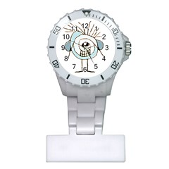 Cute Weird Caricature Illustration Nurses Watch by dflcprints