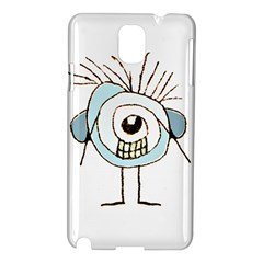 Cute Weird Caricature Illustration Samsung Galaxy Note 3 N9005 Hardshell Case by dflcprints