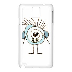 Cute Weird Caricature Illustration Samsung Galaxy Note 3 N9005 Case (white) by dflcprints