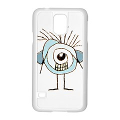 Cute Weird Caricature Illustration Samsung Galaxy S5 Case (white) by dflcprints