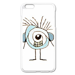 Cute Weird Caricature Illustration Apple Iphone 6 Plus Enamel White Case