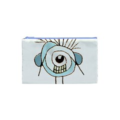 Cute Weird Caricature Illustration Cosmetic Bag (xs) by dflcprints