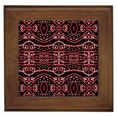 Tribal Ornate Geometric Pattern Framed Ceramic Tile by dflcprints