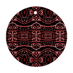 Tribal Ornate Geometric Pattern Round Ornament by dflcprints