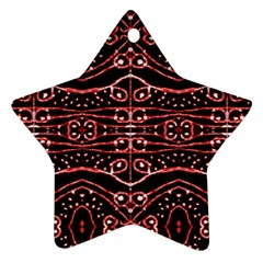 Tribal Ornate Geometric Pattern Star Ornament by dflcprints