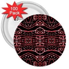 Tribal Ornate Geometric Pattern 3  Button (100 Pack) by dflcprints