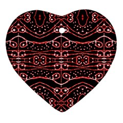 Tribal Ornate Geometric Pattern Heart Ornament (two Sides) by dflcprints