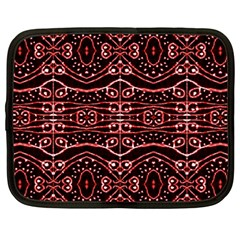 Tribal Ornate Geometric Pattern Netbook Sleeve (large) by dflcprints