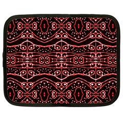 Tribal Ornate Geometric Pattern Netbook Sleeve (xl) by dflcprints