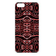 Tribal Ornate Geometric Pattern Apple Iphone 5 Seamless Case (white) by dflcprints
