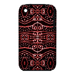 Tribal Ornate Geometric Pattern Apple Iphone 3g/3gs Hardshell Case (pc+silicone) by dflcprints