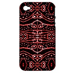Tribal Ornate Geometric Pattern Apple Iphone 4/4s Hardshell Case (pc+silicone) by dflcprints