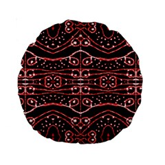 Tribal Ornate Geometric Pattern 15  Premium Round Cushion  by dflcprints