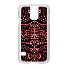 Tribal Ornate Geometric Pattern Samsung Galaxy S5 Case (white) by dflcprints