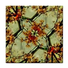Floral Motif Print Pattern Collage Ceramic Tile by dflcprints