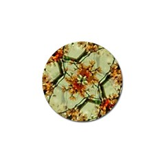 Floral Motif Print Pattern Collage Golf Ball Marker by dflcprints